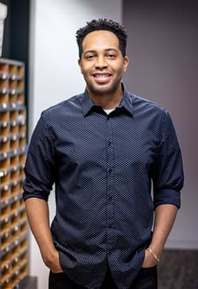 Marketing Specialist Derrick Brandon